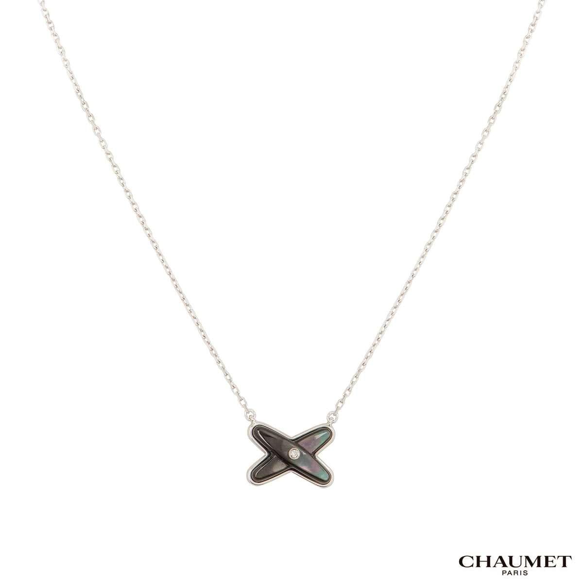 Chaumet White Gold Jeux de Liens Diamond Pendant 083160